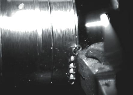 In the Figure 7 turning of aluminium alloy is shown.