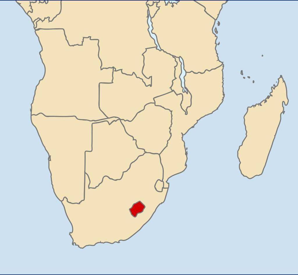 GEOGRAPHY South Africa borders upon Namibia, Botswana, Mozambique, Swaziland, Lesotho and Zimbabwe The biggest rivers: Limpopo, Orange Lesotho is an encave, completely surrounded by South