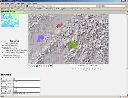 Integrácia geodát Mapbuilder open source klient