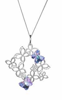 MY FASHION BUTTERFLY HARMONY 6057 43 Vitrail Light Pendant Ag 925/Rh W: 38 mm, H: 45 mm, L: 45