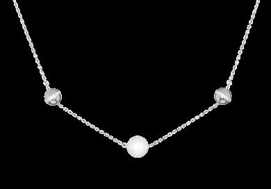 "SILVER ELEGANCE MOONLIGHT DEW 5202 00 White Necklace Ag 925/Rh L: 38 cm L: 15.0"" Weight (Ag): 4."