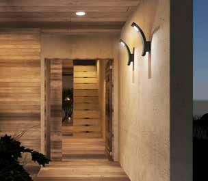 EN Architectual wall-mounted garden LED luminaire. It serves to illuminate paths, staircases facades and garden areas.