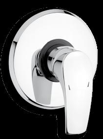 Wall-mounted shower mixer 150 mm METALIA 57 Without accessories. 150 mm The length of the spout is 240 mm.