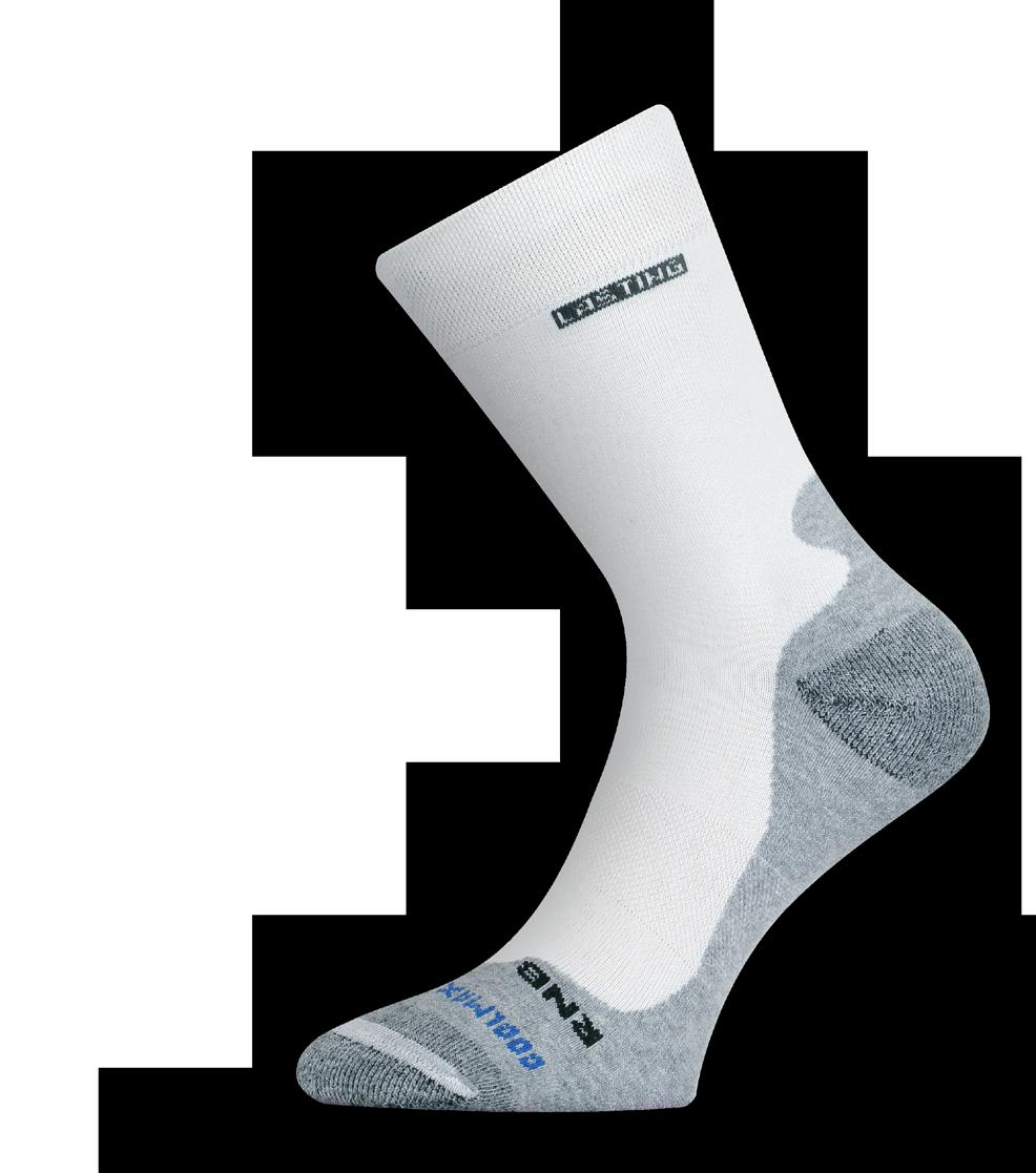 + C 0 F IRM running sock containing 9% LENZING PROFILEN, which offers the lowest coefficient of friction,
