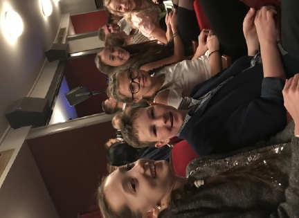 love of the theater. Students in Grades 6-8 attended the amazing Děvčátko in Studio DVA and Rapper in the Rokoko Theatre.