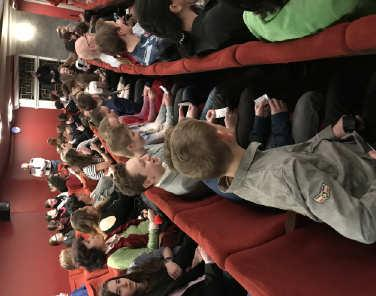 Older students viewed Terror at ABC Theater, were delighted by DNA at Theater DVA, and amused by S úsměvem idiotů at the Theater on Dlouhá.