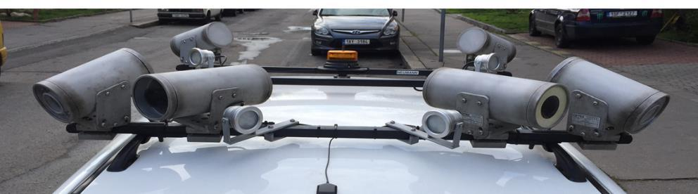 CAR - HW INSTALLATIONS 4 cameras for plate recognition with integrated IR 2 cameras for site and traffic