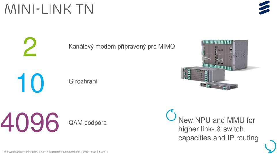 link- & switch capacities and IP routing Mikrovlnné