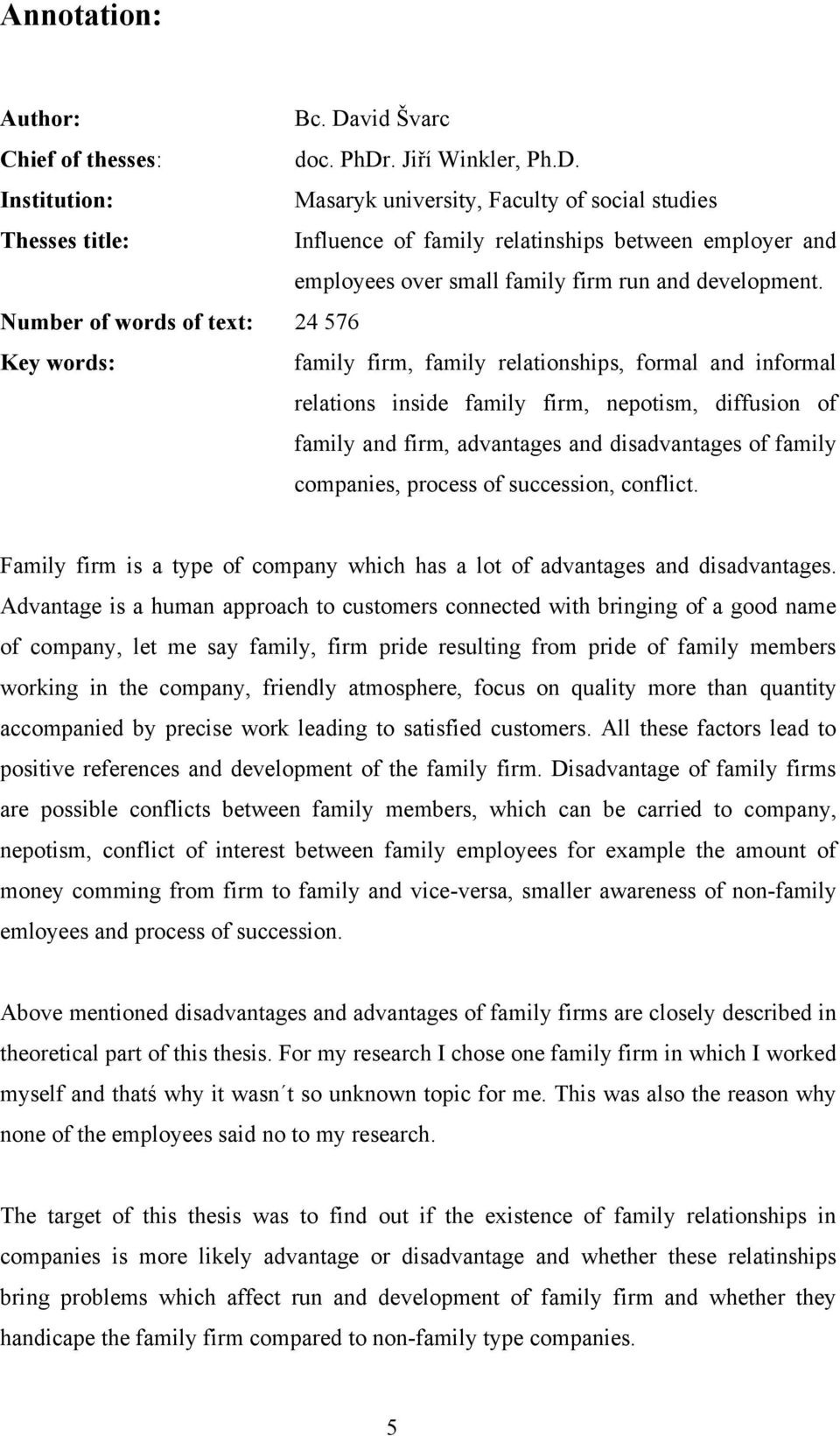 advantages and disadvantages of nepotism