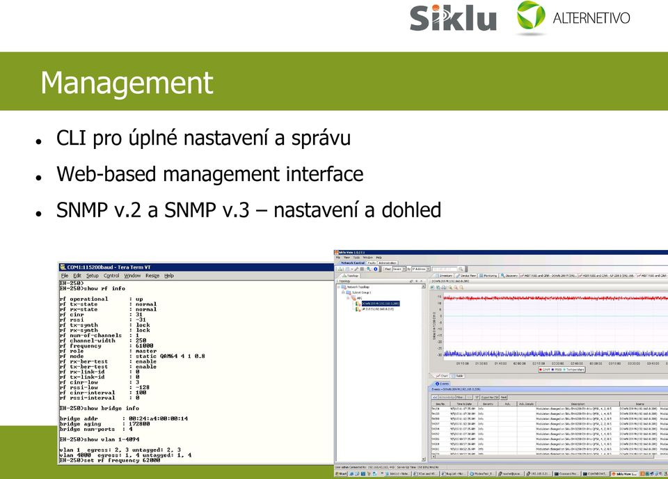 management interface SNMP v.