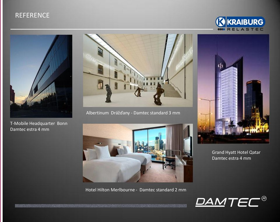 estra 4 mm Grand Hyatt Hotel Qatar Damtec