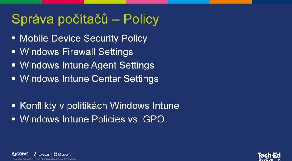 Settings Windows Intune Center Settings Konflikty v