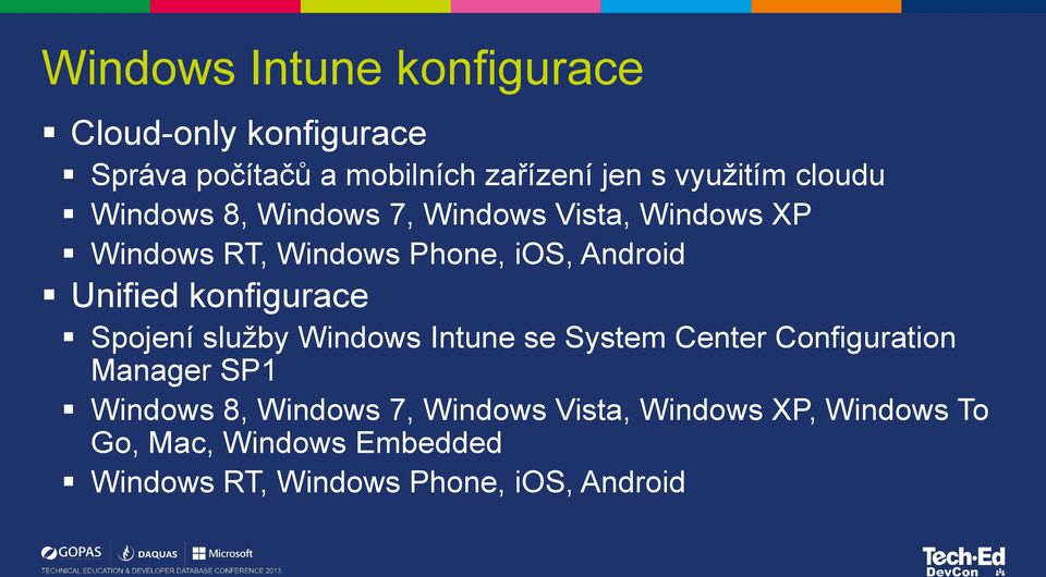 konfigurace Spojení služby Windows Intune se System Center Configuration Manager SP1 Windows 8, Windows