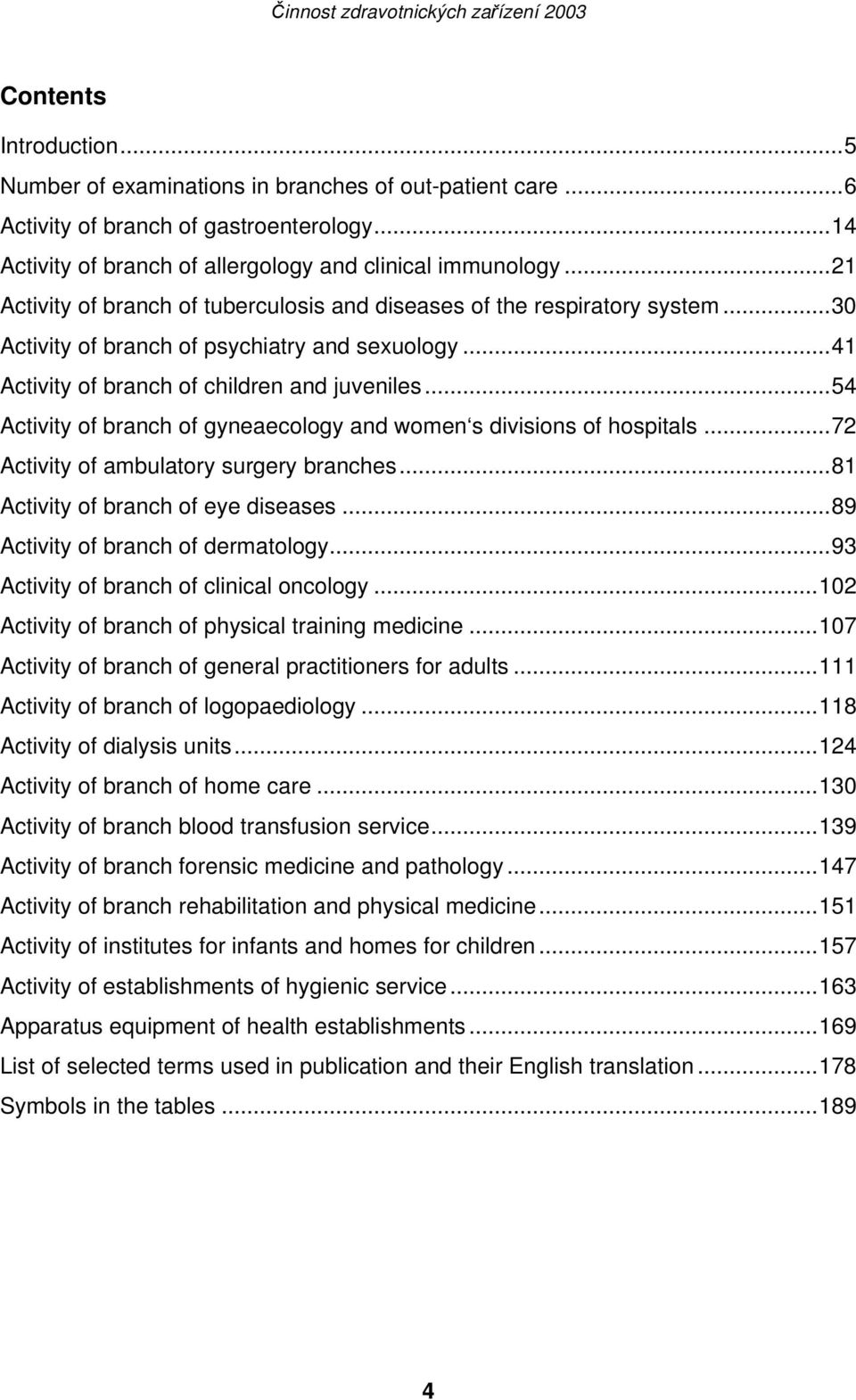 ..54 Activity of branch of gyneaecology and women s divisions of hospitals...72 Activity of ambulatory surgery branches...81 Activity of branch of eye diseases...89 Activity of branch of dermatology.