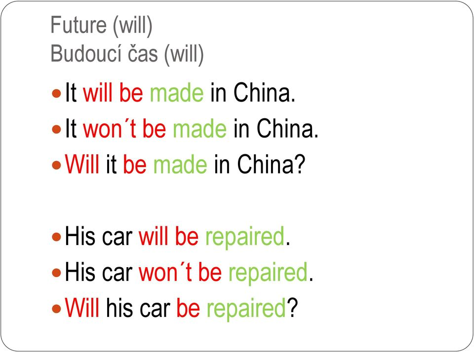 Will it be made in China?