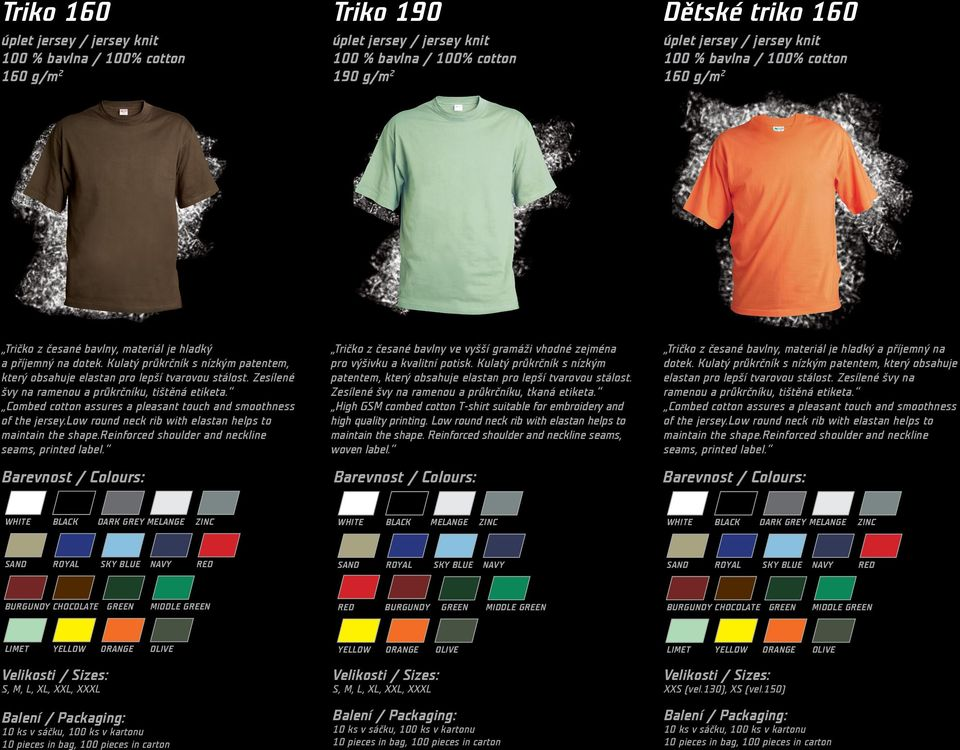 Combed cotton assures a pleasant touch and smoothness of the jersey.low  round neck rib d6fa8ab110